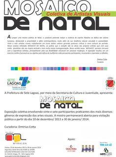 Convite para exposição na Galeria Myralda em Sete Lagoas.