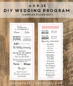 DIY Wedding Ceremony Programs Homesweetlifeblog