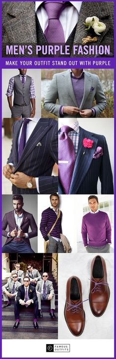Purple is awesome. ~ trish #men #fashion