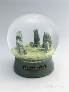Stonehenge Buildings in a Snow Globe
