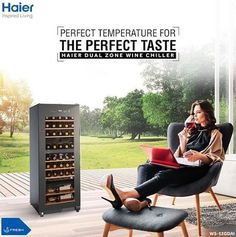 haier india Don't know where to store wines? It's time to bring home the Haier Dual Zone Wine Chiller, precisely designed to store White & Red Wines both, at the ideal temperature so that it tastes the way it was meant to. Kitchen Appliances Brands, Clean Technology, Red Wines, Postcard Template, Wine Chiller, Washing Machine, India, Store, Goa India