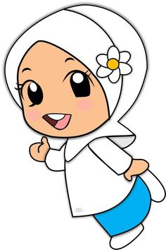 School Cartoon, Cartoon Kids, Cartoon Art, Islamic Posters, Islamic Art, Moslem, Hijab Drawing, Doodle Girl, Islamic Cartoon
