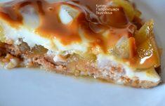 Μηλόπιτα χωρίς ψήσιμο! - cretangastronomy.gr Yams, Dessert Recipes, Desserts, Lasagna, Waffles, Food And Drink, Sweets, Apple, Snacks