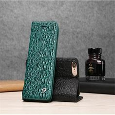 Luxury genuine leather Crocodile pattern Flip Cover For iPhone 7 Case Coque Stand Magnet adsorption Phone Bags