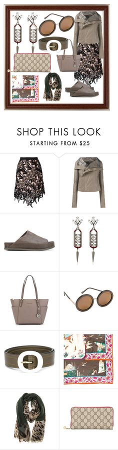 """fashion for women's​"" by denisee-denisee ❤ liked on Polyvore featuring self-portrait, Rick Owens, The Last conspiracy, Anton Heunis, MICHAEL Michael Kors, Sunday Somewhere, Marni, Salvatore Ferragamo, Gucci and vintage"