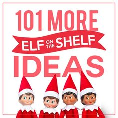 Enjoy a new Elf on the Shelf idea each night!! This is your one stop shop for fabulous Elf on the Shelf ideas! ALL of the top ideas gathered into one place!