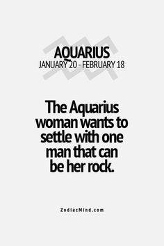 The Aquarius woman.