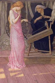 Detail of Sleeping Beauty: The Princess pricks her Finger (England, c.1895) by John Dickson Batten