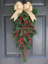 Image result for teardrop swag wreath decor
