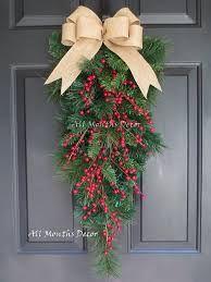 Image result for teardrop swag wreath decor