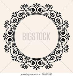 round ornate frame