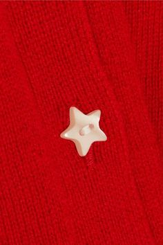 Red cashmere Button fastenings through front  100% cashmere Dry clean Made in Italy