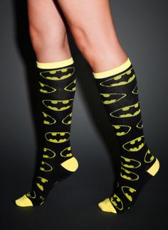 Batman Knee-High Socks | I need these for crossfit rope climbing