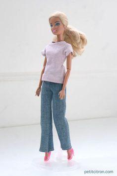 Nouveau patron pour Barbie : le jean  Et un habit de plus!