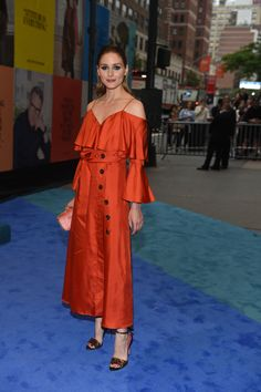 CFDA Awards 2017: Olivia Palermo in her own design for Banana Republic with Zara accessories.