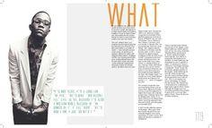 NYLON Magazine Biography Layout by Maddison Watson, via Behance