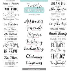 7 More Fancy Fonts (hand lettering / calligraphy style) Calligraphy Fonts, Typography Fonts, Typography Design, Branding Design, Fancy Fonts, Cool Fonts, Alphabet, Photoshop, Typographie Inspiration