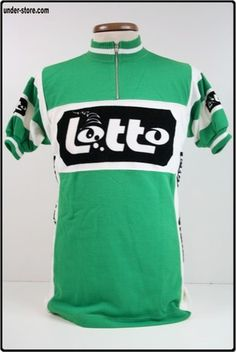 MAILLOT CYCLISME EQUIPE LOTTO VINTAGE CYCLE rfFBL180 Cycling Art, Cycling Jerseys, Vintage Cycles, Road Racing, Wheels, Bike, Clothing, How To Wear, Tops