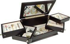 Aubrey Lift Top with Swing Trays Jewelry Storage Solutions, Jewellery Storage, Storage Ideas, Toys R Us Canada, Jewel Box, Creative Decor, Toy Store, Decorative Boxes, Organization