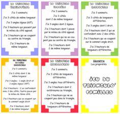 géométrie réviser avec cartes Periodic Table, Voici, Arc, Triangles, Montessori, Tools, France, Addition And Subtraction, Calculus