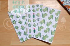 TN cover inserts cactus succulent printable for midori traveler's notebook like…