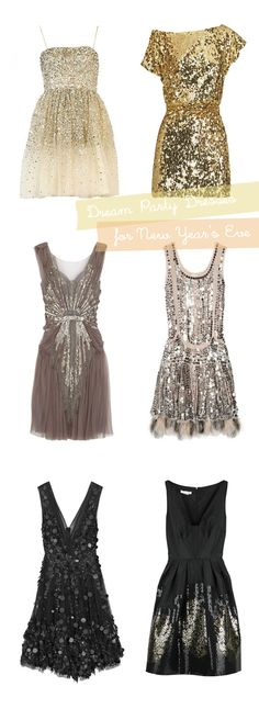 I hate sequins, but I would suffer thru them to wear either of the bottom two dresses or the one on the middle left.