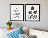 'Home Is Where Love Is' Print