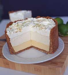 must try tripe decker key lime pie; the best ever thick graham crust (made with a lot of butter and egg white); topped with bottom layer is the traditional, rich and thick must try baked key lime filling (secret ingredient is sour cream); topped with a no-bake key lime cheesecake (cream cheese and condensed milk); topped with a key lime whipped cream