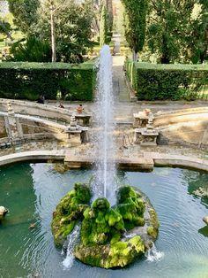 The UNESCO-Listed Villa D'Este in Tivoli Catholic Cardinals, Tivoli Italy, Day Trips From Rome, Rome Travel, Ancient Ruins, Country Estate, Lush, Waterfall, Villa
