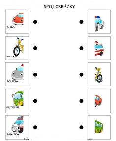 spoj obrázky dopravných prostriedkov