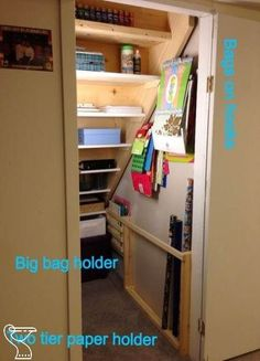Storage under stairs: 22 clever ways to change storage under stairs R .Storage under stairs: 22 clever ways to change storage under stairs R . Under stair storage .- Storage under stairs: 22 Closet Under Stairs, Space Under Stairs, Basement Closet, Basement Storage, Pantry Storage, Closet Storage, Storage Room, Basement Remodeling, Kitchen Storage