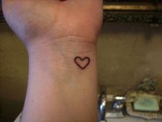 Heart Tattoo- on my hand. right above my snuff box