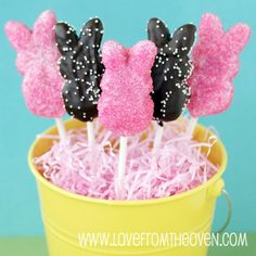 Peeps Week Starting With Peeps Pops - Peeps Recipes and Peeps Ideas - Love From The Oven