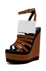 Not the biggest fan of brown...but I cant resist a sky high wedge and a sexy ankle strap! I am loving Pierre Hardy's spring/summer line!