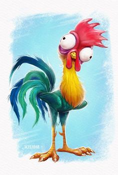 Disney Drawing Hei Hei by Krrrokozjabrra on DeviantArt - Disney Drawings, Cartoon Drawings, Cartoon Art, Animal Drawings, Cute Drawings, Chicken Painting, Chicken Art, Chicken Drawing, Chicken Coop Signs