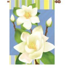 """Sweet Magnolia"" Printed Seasonal Banner; Polyester 28""x40"" #springtime #springflowers #banner #flagsaflying"