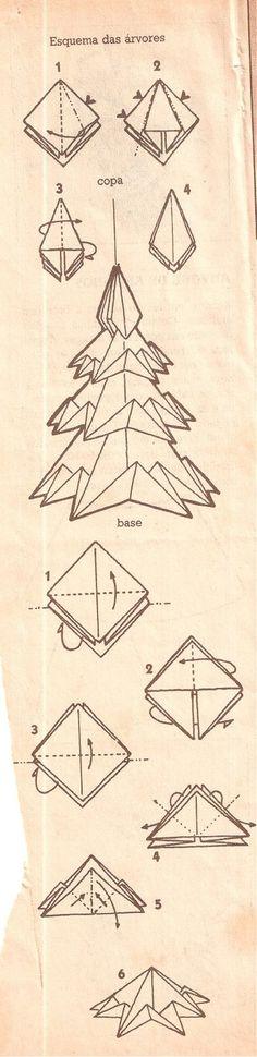Origami Folhas de Arte: Pinheiro de Natal