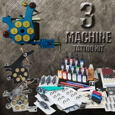 3 Revolver Machine Tattoo Kit