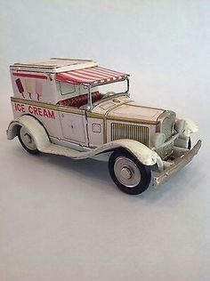 Bandai Vintage Tin Litho Friction Old Fashioned Ice Cream Car,Very Rare  €42.09Approx NOK391.43   4 bids