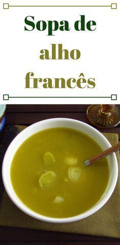 Sopa de alho francês | Food From Portugal. Nada como uma sopa de alho francês confeccionada à boa maneira Portuguesa para dar conforto na hora da refeição. É a sopa perfeita para noites frias de Inverno… Experimente, é deliciosa! #sopa #receita
