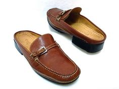 Cole Haan brown slip on loafers