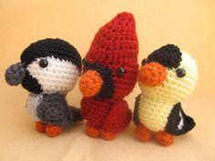 Backyard Birds Crochet Amigurumi Pattern, via Etsy.