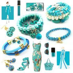 Jak zestawić ubranie z biżuterią? Pantone 2017 i nie tylko. Pantone, Turquoise Necklace, Business Casual, Bracelets, Random Stuff, Teacher, Jewelry, Ideas, Random Things