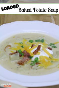Baked Potato Soup #Recipe Ingredients: 6-8 slices bacon, diced 1 onion ...