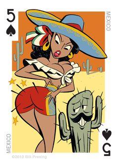Mexico Pin up ' bum'....