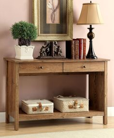 SIDE TABLE IN RUSTIC OAK CM-AC103RA CORTZ III COLLECTION