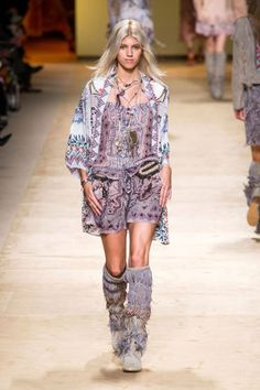 This was a festival in itself of print, color and movement which was targeted for a very specific kind of girl. Then again, if Kate Moss were to wear one of the printed rompers to, say, Glastonbury, no doubt all the rest will follow suit.