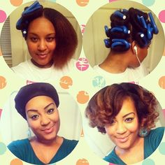 Flexi rod blowout on natural hair. Gives a nice full look. :-)