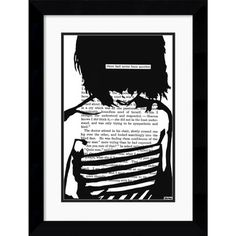 @Overstock - Add this stylish and sophisticated framed art print to your collection. This captivating print by John Clark features the outline of a girl over a body of text. This art print is 100-percent black and white and creates a modern look.http://www.overstock.com/Home-Garden/John-Clark-There-Had-Never-Been-Another-Framed-Art-Print/5607664/product.html?CID=214117 $104.99