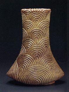 Japanese Jomon ceramic.  #ceramics #pottery